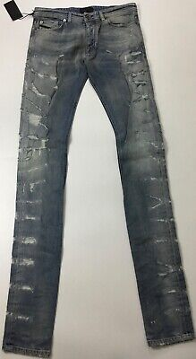 "Diesel Black Gold Men 41"" Type 2712 Tall Distressed Slim Jeans $395 Blue Size 29"