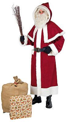 weinroter nostalgischer Mantel Weihnachtsmann Nikolaus Weihnachten