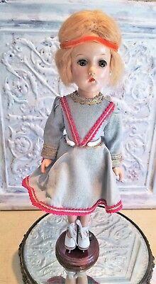 "1940's Madame Alexander BABS Ice Skater Composition Doll Original Dress 14.5"" !!"