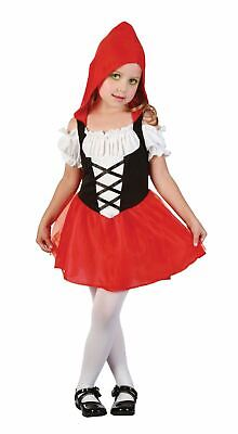 girls toddler red riding hood costume kids school book story fairytale dress - Princess Red Riding Hood Child Costume