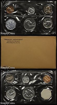 1961 Proof Set With COA ~ Flat Pack Original Envelope ~ US Silver Mint Coin -