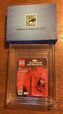 SDCC 2017 Exclusive Lego Minifigure Marvel Super Heroes Deadpool Duck W/ Case