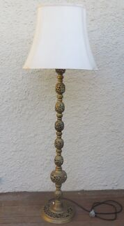 floor lamp brass and shade
