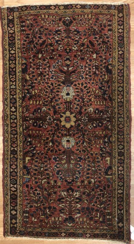 Lovely Lilihan - 1920s American Sarouk Rug - Persian Carpet - 2.1 X 3.9 Ft.