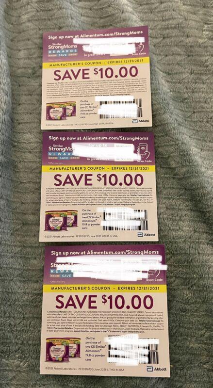 $30 in Savings For Similac Alimentum Formula $10 Off Of 2