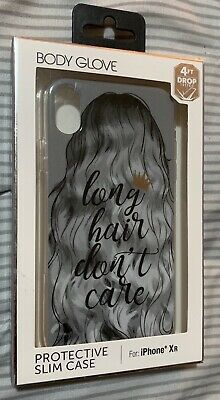 NEW Body Glove Protective Slim Case for iPhone XR - Long Hair Don't (Hair Care Mitt)