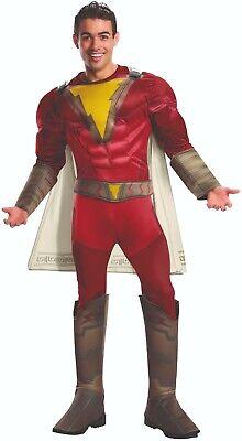 Rubies 3700799 - Shazam Deluxe - Adult Gr. STD XL ca.48 - 58 - Superheld - Shazam Superheld Kostüm