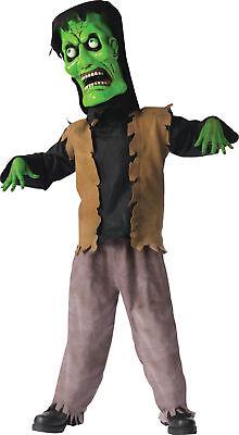 Bobble Head Monster Green Child Boys Costume Comical Funworld 130092 Halloween