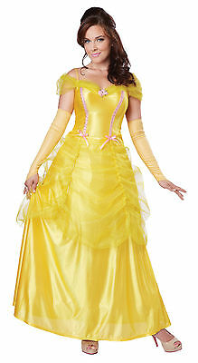 Adult Classic Beauty Princess Belle Beauty And The Beast Costume XS-3X