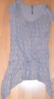 TU  Party-  Strand- Sommer- Jersey-  Mini-  Kleid Tunika  Slinky Zipfel 42 44