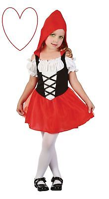 Childrens Little Red Riding Hood Costume Outfit Girls Book Week Party - Princess Red Riding Hood Child Costume
