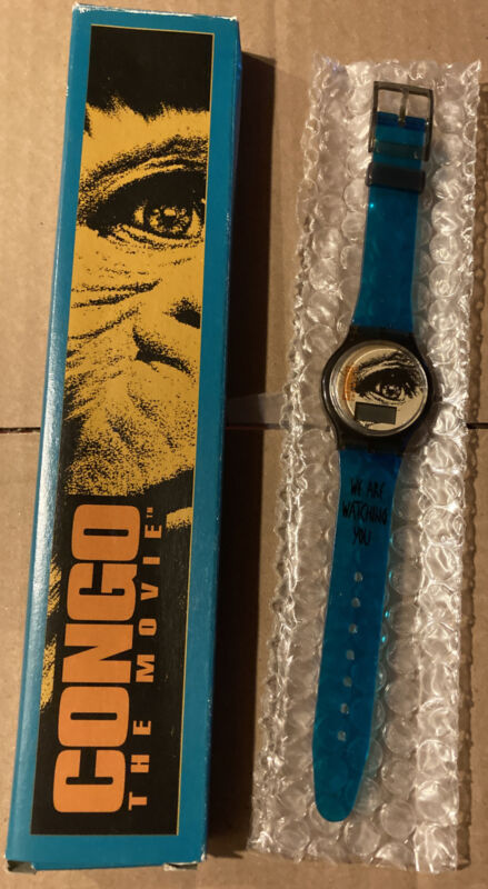 """Burger King """"Congo The Movie"""" 1995 digital watch lot MIB Never Opened Or Used"""