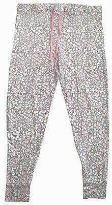 NWOT Honeydew Women's Pajama Pants Bottoms Grey Pink White Animal Print Size M