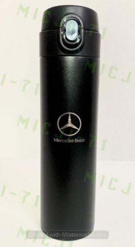 Mercedes Benz Stainless Thermal Mug Push Cap Tumbler Cup Travel 18oz (Black)