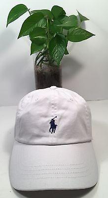 Polo Ralph Lauren Classic Sport Chino Baseball Hat Cap White/Blue New