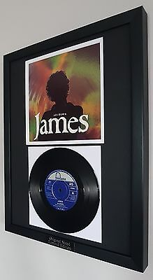 James-Sit Down-Framed Original Vinyl Record-Luxury Box Framed-Certificate