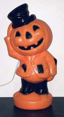 NEW VTG HALLOWEEN BLOWMOLD LIGHT 1969 EMPIRE SCARECROW PUMPKIN MAN ORIG TAG EXC