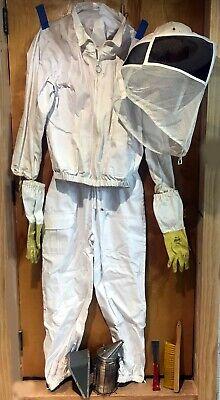 Quality Beekeeper Beekeeping Kit Gear Suit Jacket Hat Veil Gloves Tools Smoker