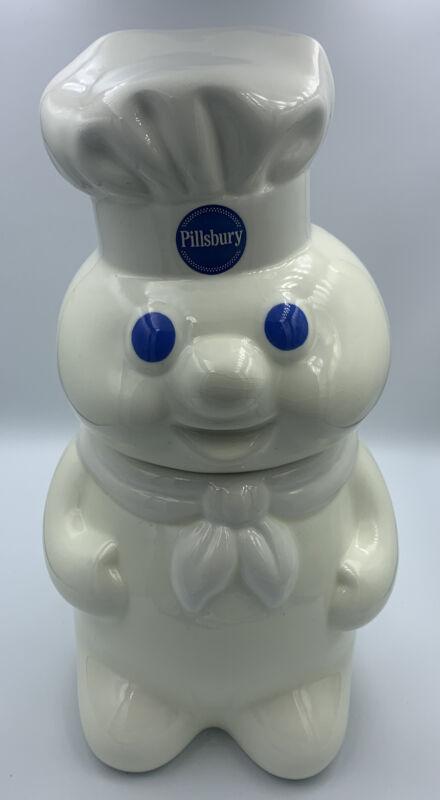 Vintage Pillsbury Doughboy Ceramic Talking Cookie Jar 1999 Tested