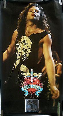 RARE BON JOVI NEW JERSEY 1989 VINTAGE ORIGINAL MUSIC RECORD STORE PROMO POSTER