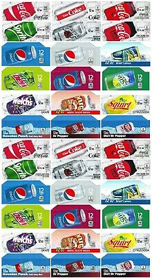 Qty 36 Coke Or Soda Machine Vending Variety Label Pack - Late Style And Size
