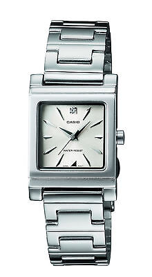 Casio Women's Quartz Dress Silver-Tone Bracelet 21mm Watch (Dress Silver Tone Bangle)