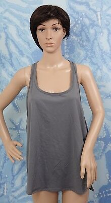 UNDER ARMOUR gray racer back open sides Sleeveless Tank Top, size L