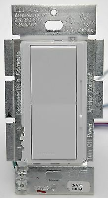 - Lutron Diva DV-600P-WH Single Pole 600w Preset Wall Dimmer Light Switch WHITE