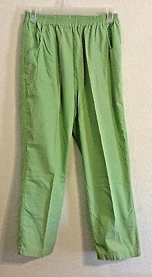 Haband Scrub uniform bottom pants size 14 Average elastic waist green Hospital ()