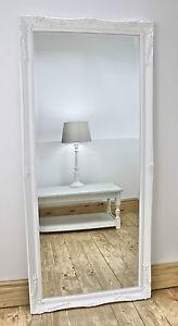 Isabella White Shabby Chic Full Length Antique Floor Mirror 66