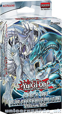 YuGiOh! Saga of Blue-Eyes White Dragon 1st Ed Structure Deck - Cards Only-No Box