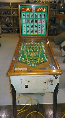 "Nice Rare Vintage 1957 Williams ""Hi Hand"" Pinball Machine"