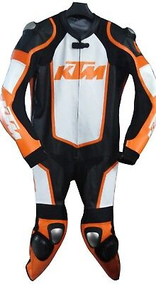 KTM Leather Motorcycle Racing Suit Motorbike Racing leather suit Cowhide for sale  Shipping to Canada