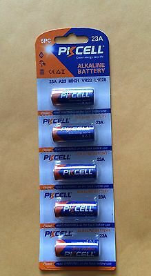 PKCell 12v Alkaline Battery 23A A23 MN21 VR22 L1028  5-Piece Pack