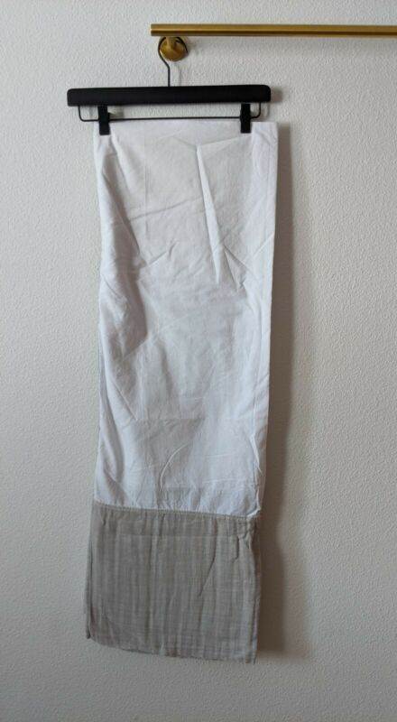 Aden by Aden + Anais 100% Cotton Muslin Crib Skirt Light Gray White