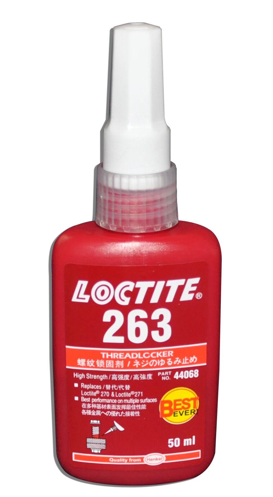 LOCTITE 263 HIGH STRENGTH THREADLOCKER HIGH STRENGTH LIQUID – 50 ML Adhesives, Sealants & Tapes