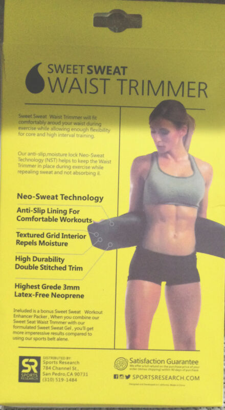 Sweet Sweat Premium Waist Trimmer. Fajas Térmica Color Amarillo Con Negro .