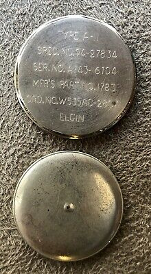 Elgin Type A-11 WWII Military Watch Case Back & Dust Cover AF 43