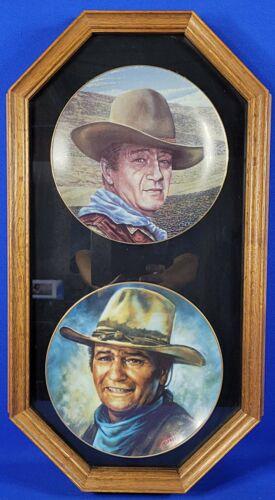 "Rare John Wayne LE ""An American Legend"" ""Sprit of America"" Framed 8.5"" Plate"