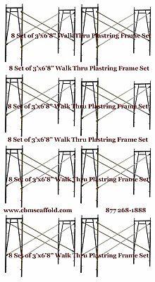 8 Set Of 3 X 68 X 10 Plastering Masonry Scaffold Frame Set Cbmscaffoldcom