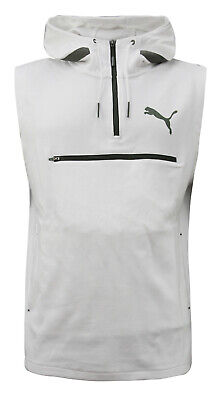 Puma Evo SL Sleeveless Mens Hoodie Jumper Activewear White 574519 05 A58D