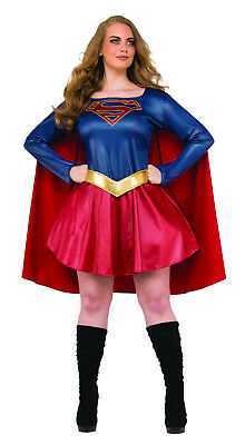 Women's Plus Size Supergirl Costume TV Series Halloween Dc Comics Cosplay  (Superhero Costumes For Women Plus Size)