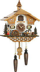 cuckoo clock black forest quartz german music moving beer drinker battery wood