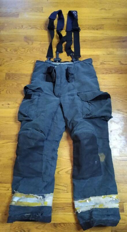Firefighter Janesville Lion Apparel Turnout Bunker Pants 36XL W/Liner/ Suspender