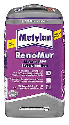Metylan RenoMur Innenspachtel 20 kg +++praktische Verpackung mit Tragegriff+++ ()