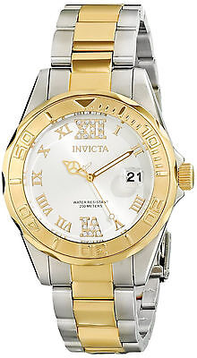 Invicta Reloj Gold Oro Silver Plata Steel Woman Watch Crystal Mujer Bracelet Arm