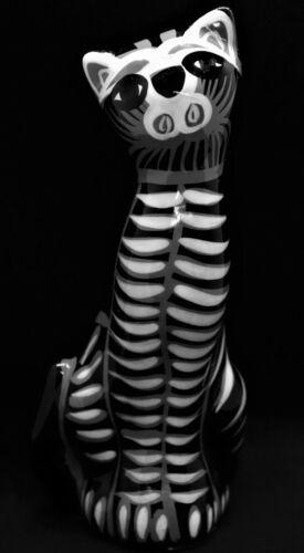 Mexican Folk Art Hand Painted Ceramic Cat Figurine #4