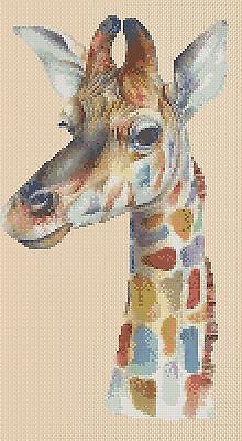 Colorful Giraffe Counted Cross Stitch COMPLETE KIT #2-392/8