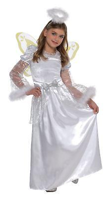 Girls Angel Costume Kids Nativity Play Christmas Fancy Dress Outfit Child - Angel Costume Nativity