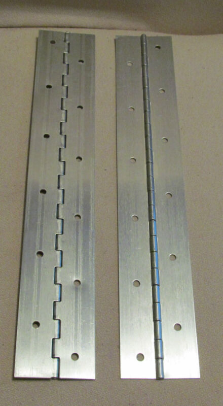"""A Pair 2 Aluminum Piano Hinge 1"""" x 1"""" x 12"""" 20 Gauge Made in USA"""